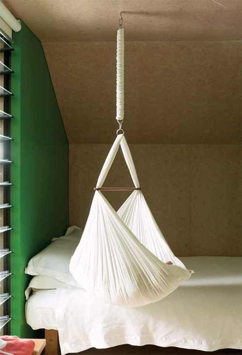 a hanging crib makes the transition from womb to world a easier for your baby  suspended from the ceiling the crib is gently sent into a rocking motion     95 best cradles around the world images on pinterest   crib bed      rh   pinterest
