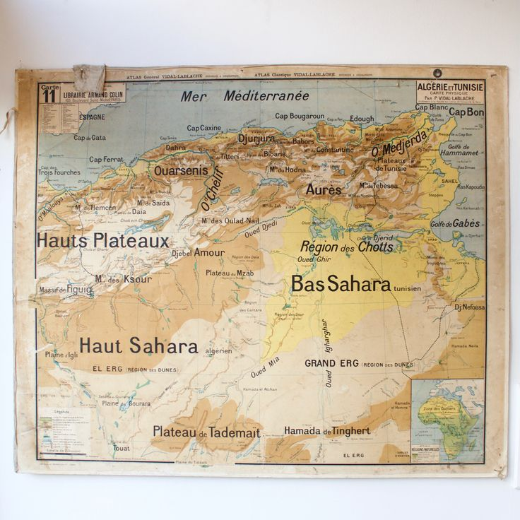 Netherland Antilles Map%0A Carte scolaire ancienne N   Algerie Tunisie   French vintage school map  Algeria Tunisia
