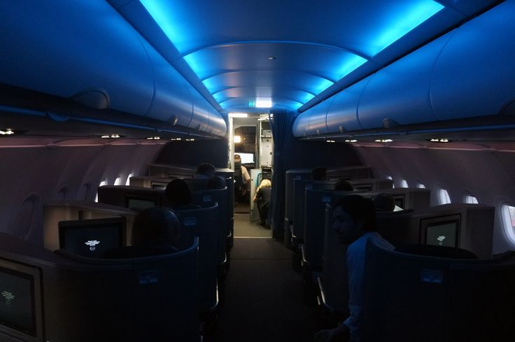 Have you noticed that the lights are always turned off before takeoff and landing? The reasons for this all center around surviving if anything were to go wrong. This helps your eyes adjust to the dark which could save valuable seconds in an accident. It also allows the emergency exit signs to be more obvious and easy to follow.