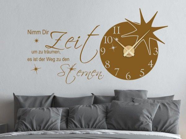 Wandtattoo Uhr Wanduhr Spruch Nimm Dir Zeit Um Zu Träumen Mit