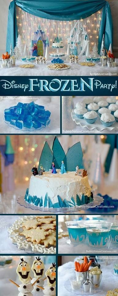 Frozen Themed Party:  Awwe! Love the idea of having carrots and cauluflower for a dose of Olaf-ness.