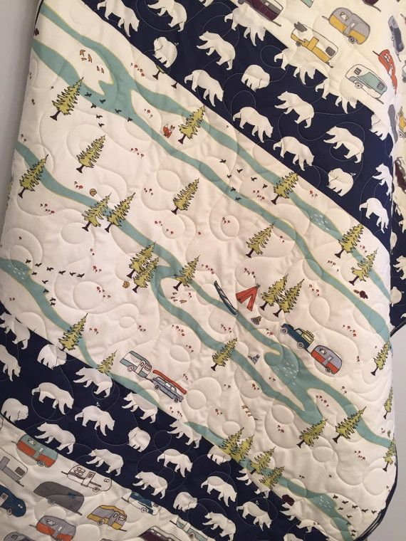 Rustic Baby Quilt Organic Baby Quilt by 31RubiesQuiltStudio