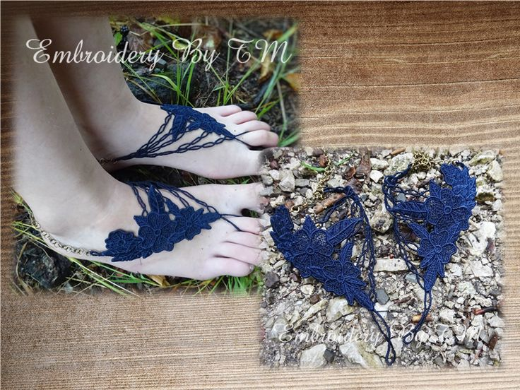 (10) Name: 'Embroidery : Barefoot sandals lace-FSL