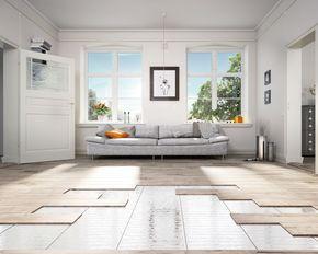 Fußbodenheizung einfach nachrüsten! Auch in ein bestehendes Haus bzw. Wohnung, kann man eine Fußbodenheizung unter verschiedenen Böden verlegen. #Heizmatten #Fußbodenheizung #Laminotherm #heizen #wellness #komfort #diy