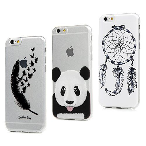 3x Coque iPhone 6S /iPhone 6 Silicone Transparente Protection Cuir ...
