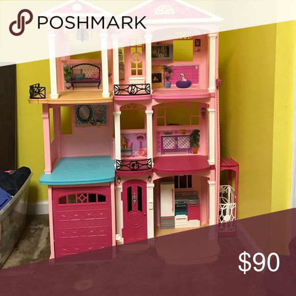 1000 ideas about barbie house with elevator on pinterest wooden toy plans barbie doll house for Barbie doll house with swimming pool