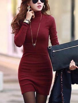 Mini Slim Turtleneck Dress 6 Colors Dress It Up Pinterest