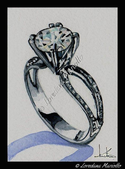 Diamond Ring - ACEO