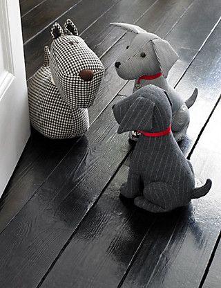 Benjamin Sitting Dog Doorstop | M&S