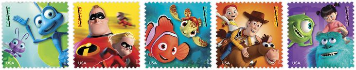 New Pixar Stamps To Honor THE INCREDIBLES, FINDING NEMO, MONSTERS, INC + More
