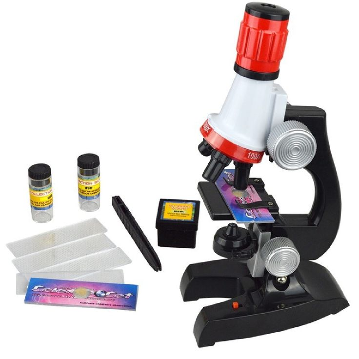 1pcs Design Microscope <b>100X 400X</b> 1200X Illuminated Monocular ...