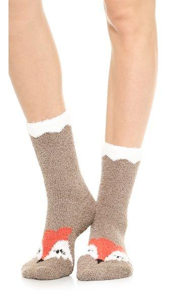 Cute fox socks http://rstyle.me/n/qjendnyg6