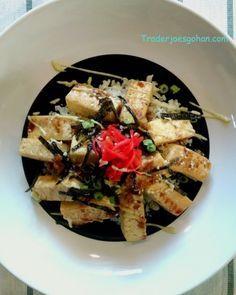 トレーダージョーズの豆腐で簡単丼ぶりのレシピ   Trader Joe's Organic Firm Tofu  400g $1.49 トレーダージョーズ オーガニック豆腐 #豆腐丼 #トレーダージョーズ