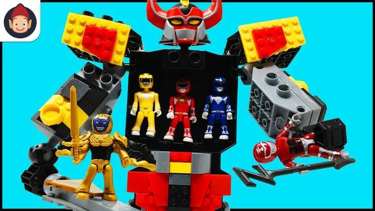 Mega Construx Power Rangers Mighty Morphin Megazord Playset Unboxing Toy Video w/ Red Ranger Battle - YouTube