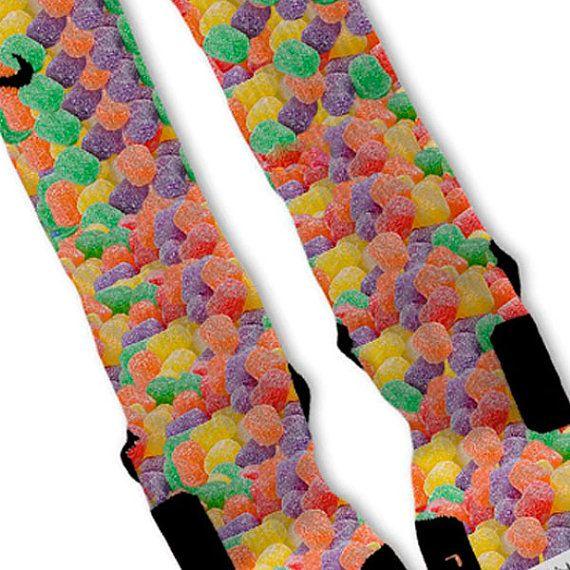 Gumdrops Fast Shipping!! Nike Elite Socks Customized Candy on Etsy, $26.00