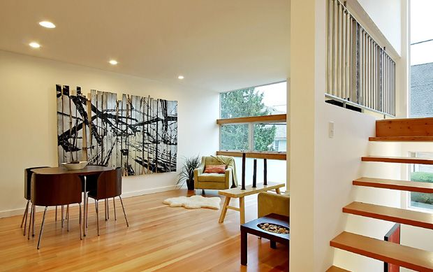 Living area in one of 3 Dwell Development modern town homes at 3508 South Edmunds Street, sold in 2008.