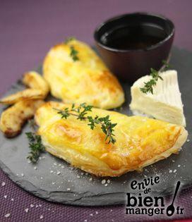 Chausson de Camembert et ses pommes flambées au Calvados