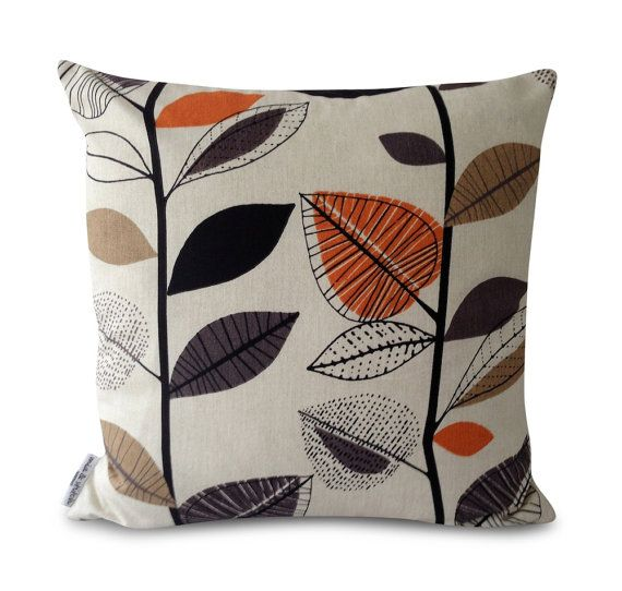 Retro+Orange+and+Brown+Cushion+covers+Throw+by+miaandstitch