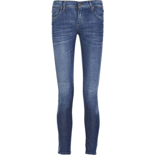Citizens of Humanity Phantom mid-rise ankle-length jeans ❤ liked on Polyvore featuring jeans, pants, bottoms, pantalones, women, mid rise skinny jeans, embroidered jeans, faded blue jeans, destroyed jeans and distressed skinny jeans