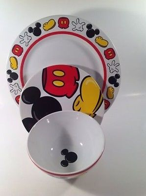 Mickey Mouse Body Parts Disney Dinner Plate Salad Plate Soup Bowl Set Of 3 & 26421 best Disney Decor images on Pinterest | Bedrooms Child room ...