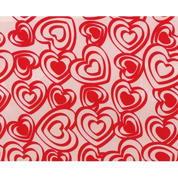 Inspirations Eco Gift Wrap - 24in x 417ft  Hearts 100% Recycled material -build your brand while saving the planet!