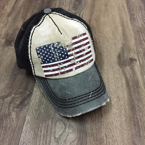 Vintage Baseball Hat w/Flag | USA | Patriotic | Summer 2017 | Memorial Day Outfit | Fourth Of July | 4th Of July | BBQ Outfit | Stitch Fix Inspiration | What to Wear | Hats | Snapback | Flag | 'Murica |
