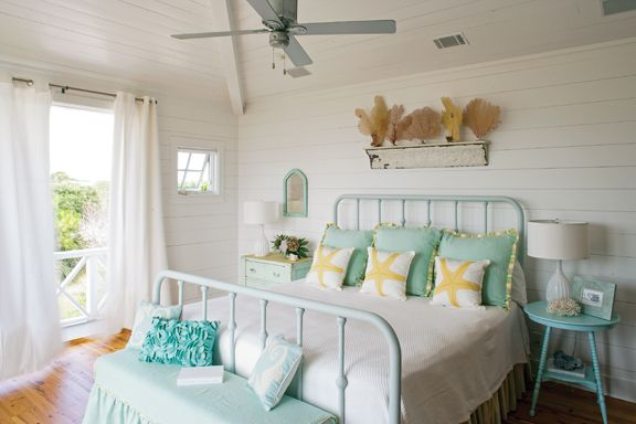 Tybee Island beach house bedroom, love the simplicity and serenity!
