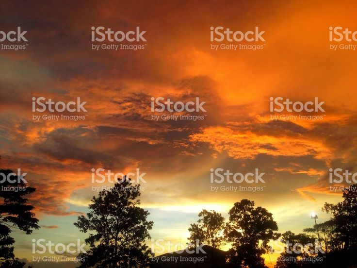 Silhouette Landscape royalty-free stock photo