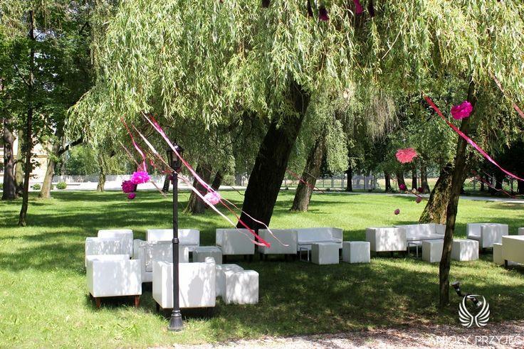 11. Pink Wedding,Chillout / Różowe wesele,Dekoracja chilloutu,Anioły Przyjęć