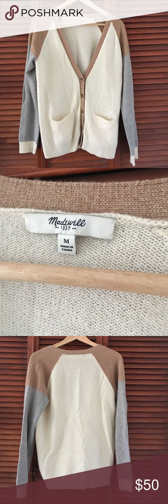 Neutral Cardigan 💯% merino wool! Barely used. Madewell Sweaters Cardigans