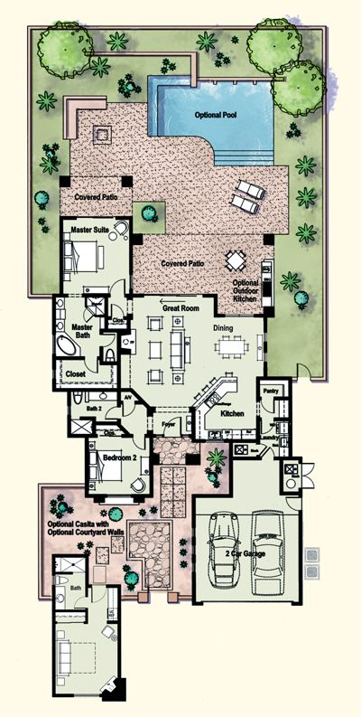 20 best custom home floor plans images on pinterest for Tucson house plans