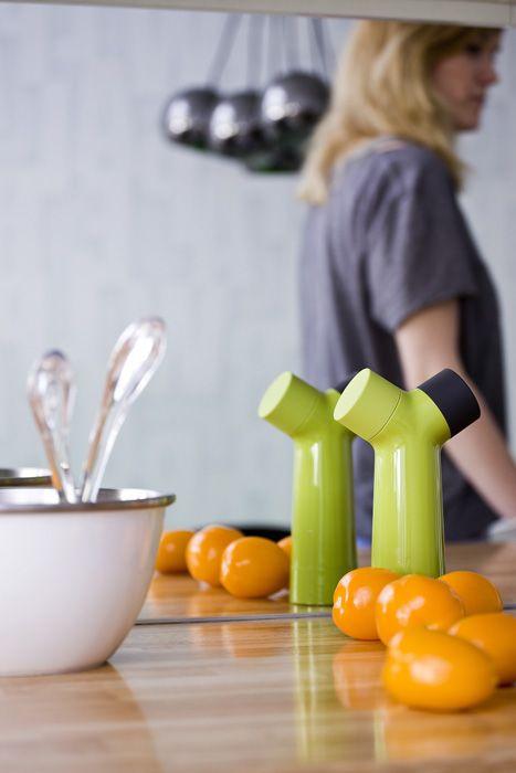 Zielony i pomarańczowy