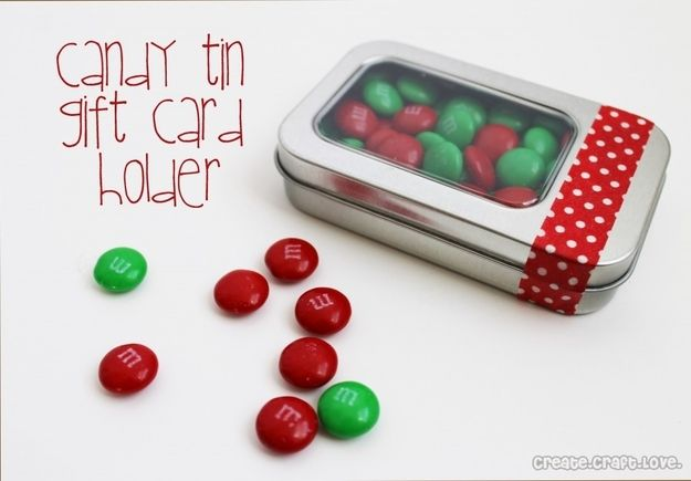 Candy Tin Holder | 24 Cute And Clever Ways To Give A Gift Card