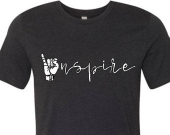 399df58eb035d Inspire ASL T-shirt   Educator Apparel   Sign Language T-shirt   Teachers  Clothing