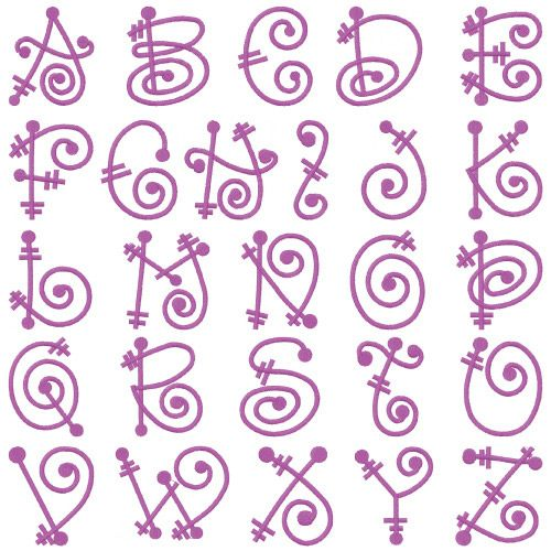 Monograms Embroidery Font: FairyTale from Embroidery Patterns
