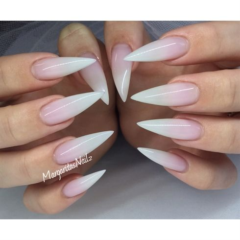 233 best nails images on pinterest nail design fingernail french ombr stiletto nails by margaritasnailz from nail art gallery prinsesfo Choice Image