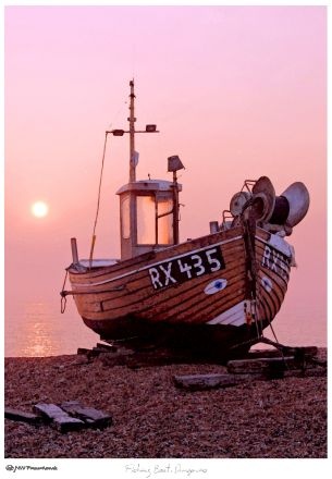 Fishing Boat, Dungeness beach. That freezing cold morning again. What we do to get the photo! www.nwfineart.co.uk