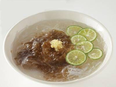 もずくとすだちの春雨氷麺レシピ 講師は井澤 由美子さん 使える料理レシピ集 みんなのきょうの料理 NHKエデュケーショナル