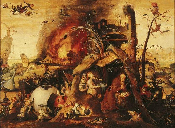 Mandijn, Jan - Искушение святого Антония, ок. 1530, 61,5 cm x 83,5 cm, Дерево, масло Музей Франса Халса в Харлеме