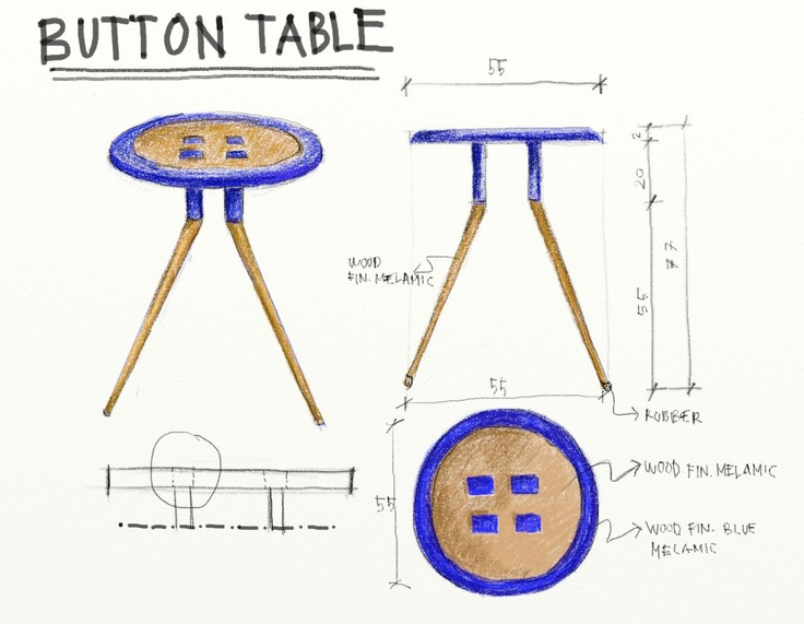 button table sketch