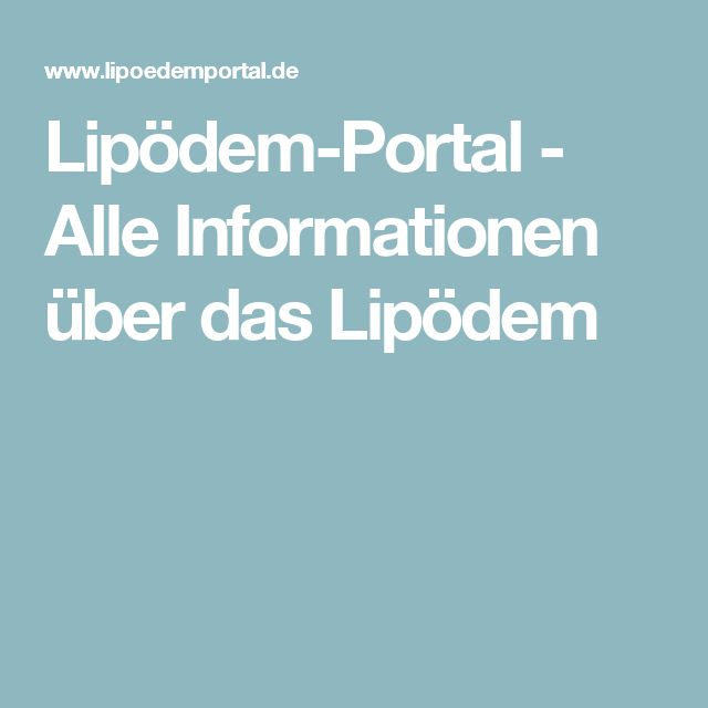 Lipödem-Portal - Alle Informationen über das Lipödem