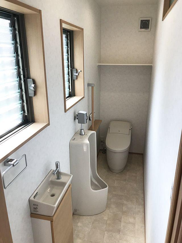 姫路市 A様邸 トイレ改装工事 費用 80万 工期 7日 明るい トイレ