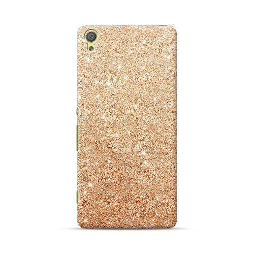 Sony Xperia XA Ultra Rose Gold Bling Glitter Sparkle Design Case