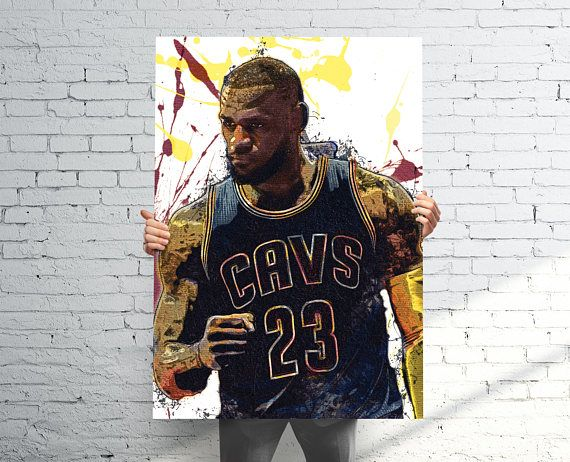 Lebron James Cleveland Cavaliers Sports Art Print Poster