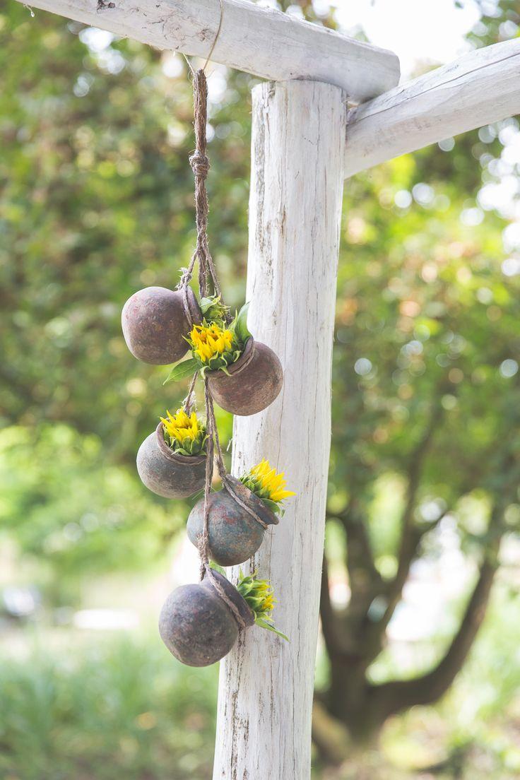 Lovely hanging wedding decoration