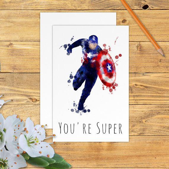 Captain America Card