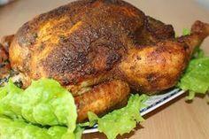 Na moim stole...: Chrupiący pieczony kurczak w całości
