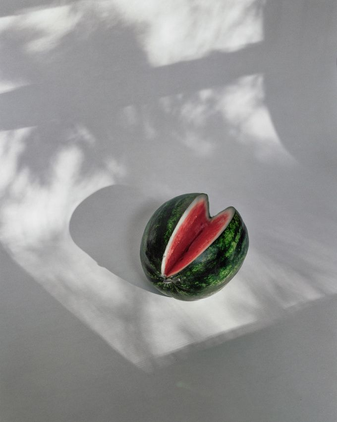 What has better texture and color than a watermelon - and it's cheap and tasty. God still is the best designer I know.