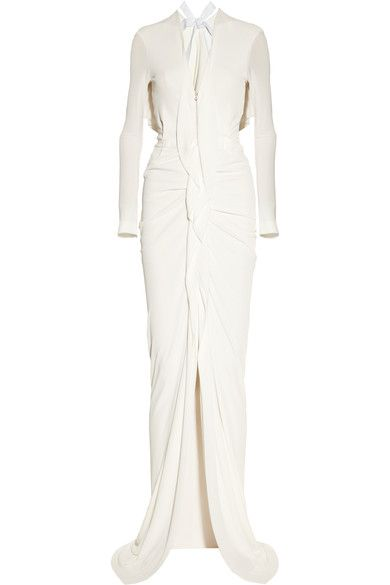 Roland Mouret - Compeyson Open-back Stretch-crepe Gown - Cream - UK10