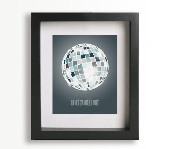 Dancing Queen / Abba - Music Lyric Art Print